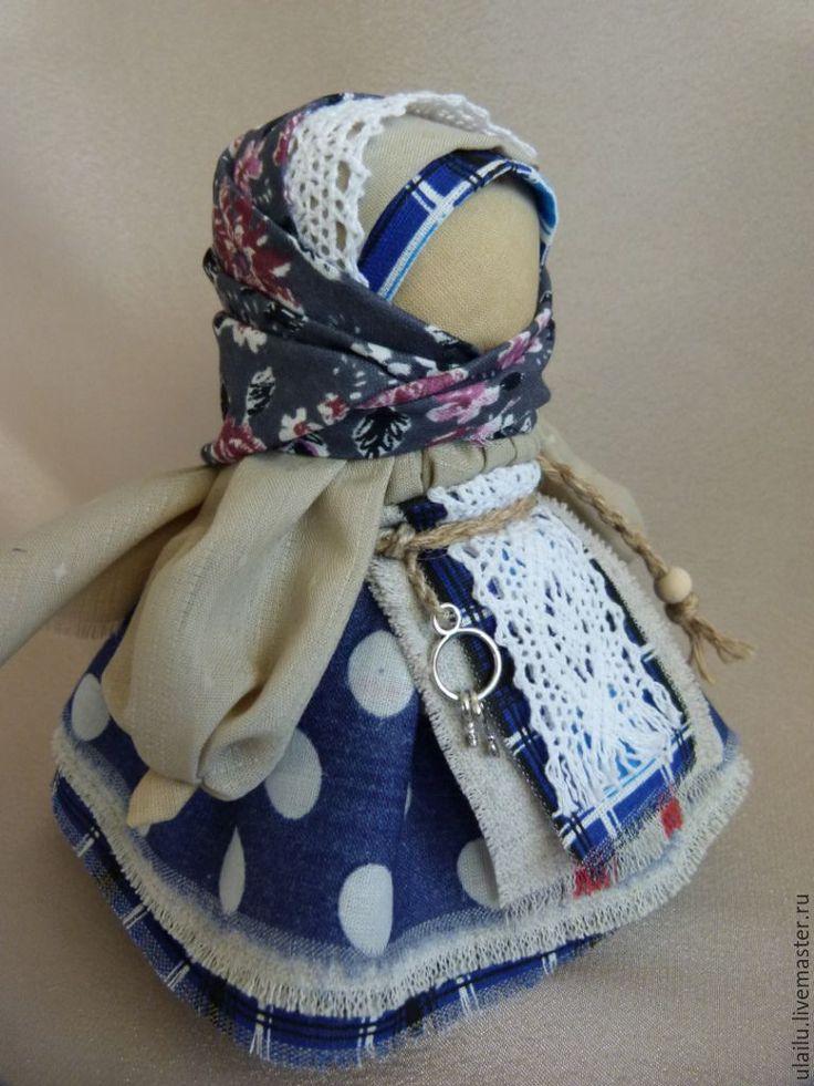 """Купить Кукла в народном стиле """"Ангел ключи счастья"""" - тёмно-синий, народная кукла"""