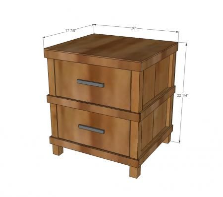 Nightstand plans kreg woodworking projects plans for Nightstand plans