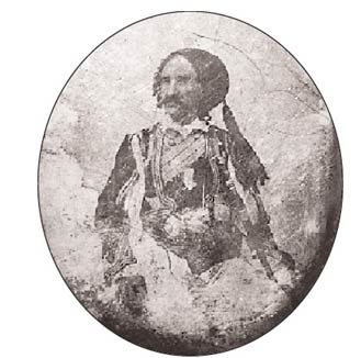 Panayiotis Naoum, veteran of the Greek War of Independence (Παναγιώτη Ναούμ )(1846-1847) probably taken by the first Greek photographer Filippos Margaritis, although it is stamped Perraud of Paris.