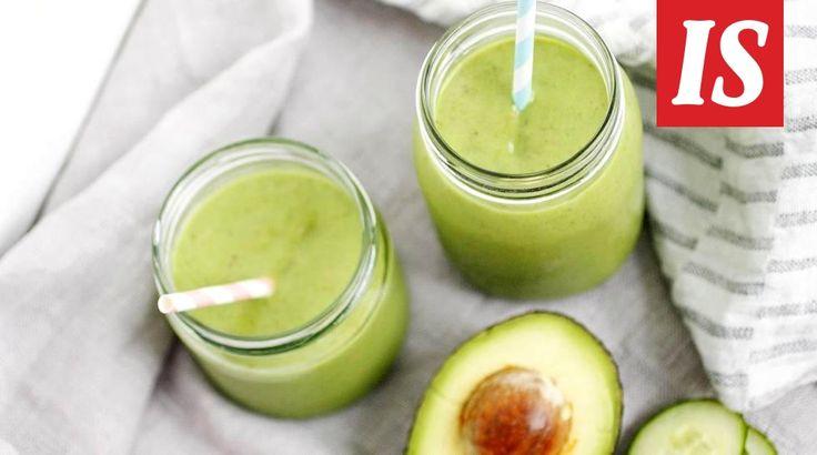 Karita Tykän aamusmoothie on vitamiinipommi. Runsaasti vihanneksia sisältävä juoma saa virtaa aamuihin.