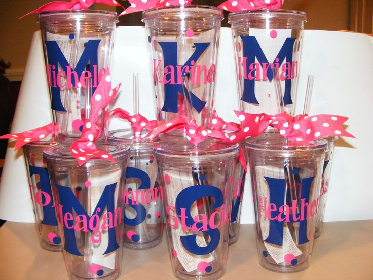 Inexpensive Cheerleading Gift Ideas | Personalized Tumbler 16 oz w/Straw Bridal Party, Birthday, Teacher ...