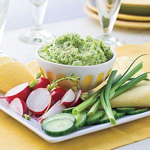 Roasted Garlic-Edamame Spread Recipe | MyRecipes.com