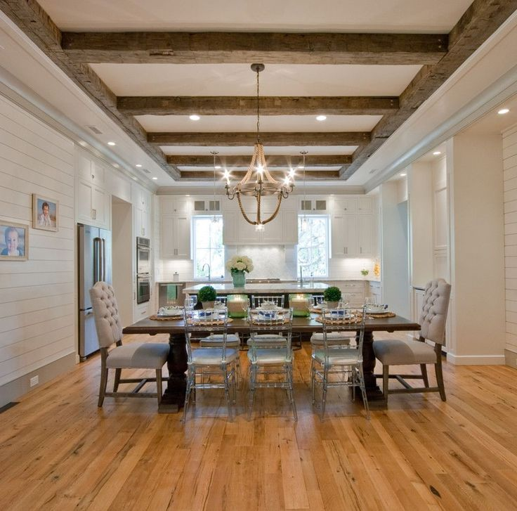 Rustic Living Rooms: Tray Ceiling With Beams Tray Ceiling With Beams