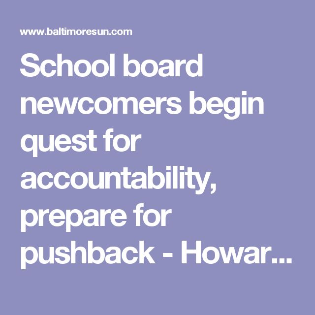 School board newcomers begin quest for accountability, prepare for pushback - Howard County Times