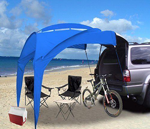 TailGator Sunshade (tm) Portable Shade - Blue  Price : $129.95 http://www.eurow.com/TailGator-Sunshade-Portable-Shade-Blue/dp/B010RQQ0BO