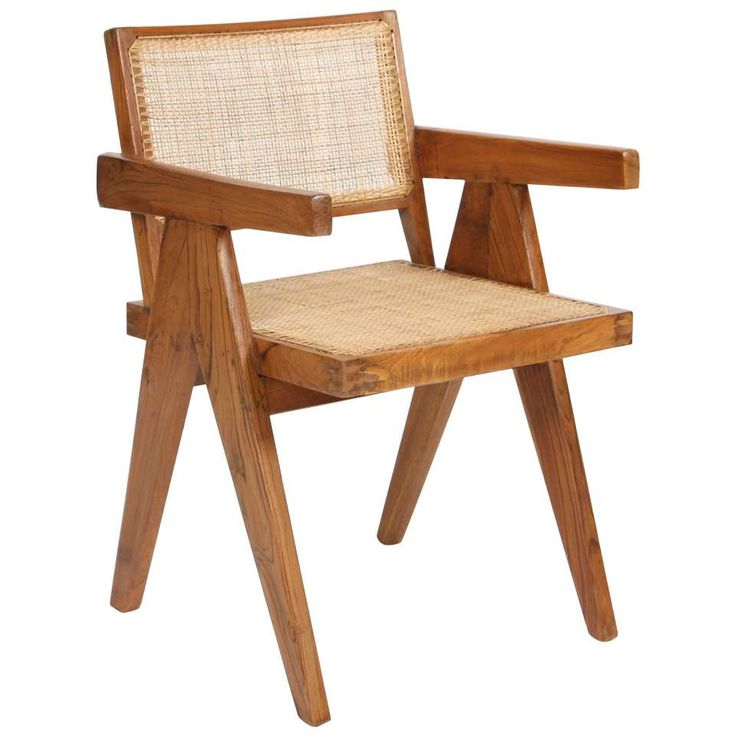 """Pierre Jeanneret Armchair Called """"Office Cane Chairs"""" 1"""