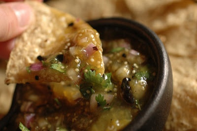 Rick Bayless' Salsa Verde - this can be made raw too.
