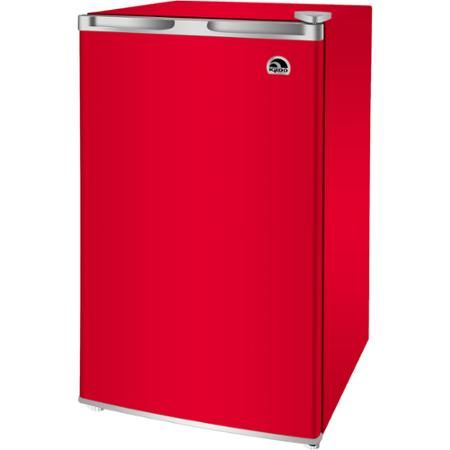 Igloo Miniature Refrigerator with Reversible Door and Fridge Volume Of 3.2 Cu. Ft. Red
