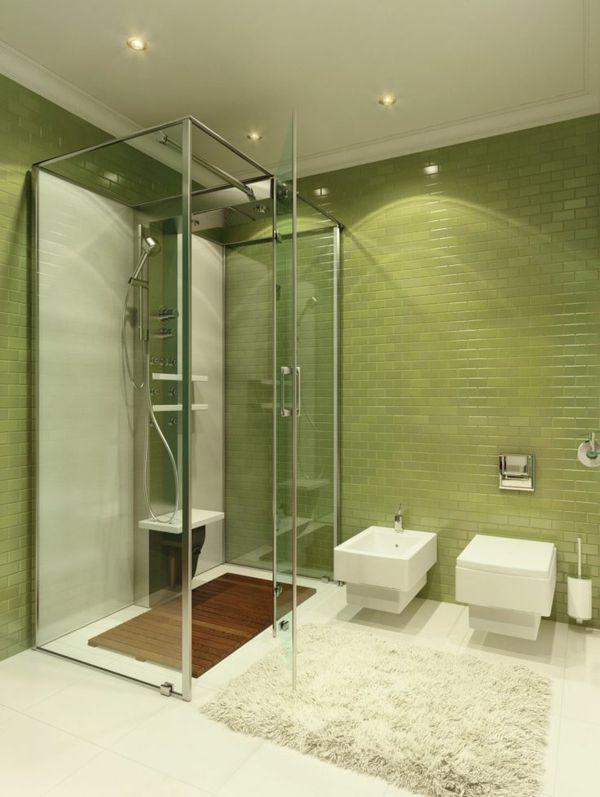 duschkabine instalieren grnes badezimmer - Badezimmer Grn