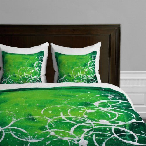 deny designs madart richness of color green duvet cover king