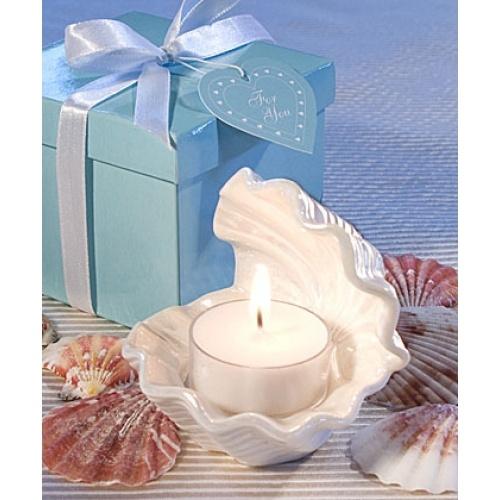 Bomboniere candele dall'eccezionale forma a conchiglia