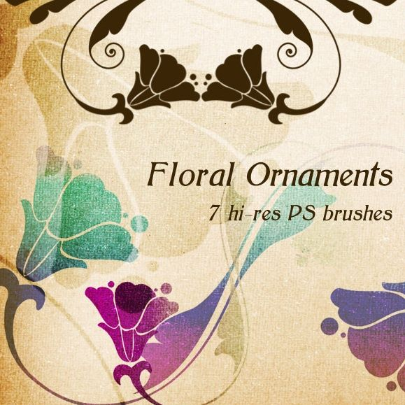 38 best photoshop brushes and vector graphics images on pinterest 8 must have free photoshop floral swirl brushes reheart Images
