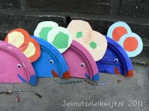 muis van papieren bordje