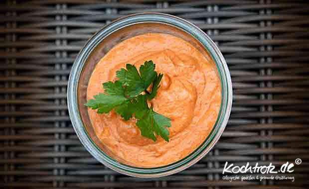 Paprika-Hummus macht süchtig :) | kochtrotz - Rezepte für Gluten-Unverträglichkeit, Fructose-Intoleranz, Laktose-Intoleranz, Histamin-Intoleranz, Zöliakie, Sorbit-Intoleranz, jetzt auch vegan und sojafrei