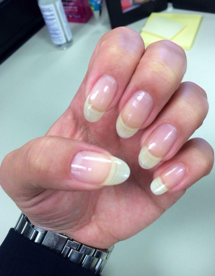 Natural Long Nails #Almond Shape #Real Nails