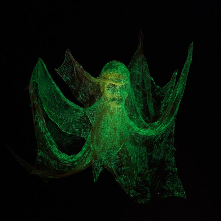 It's easy to make this eerie Glow-in-the-Dark Floating Head, click to see how.