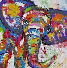 schilderij-olifant - Google zoeken