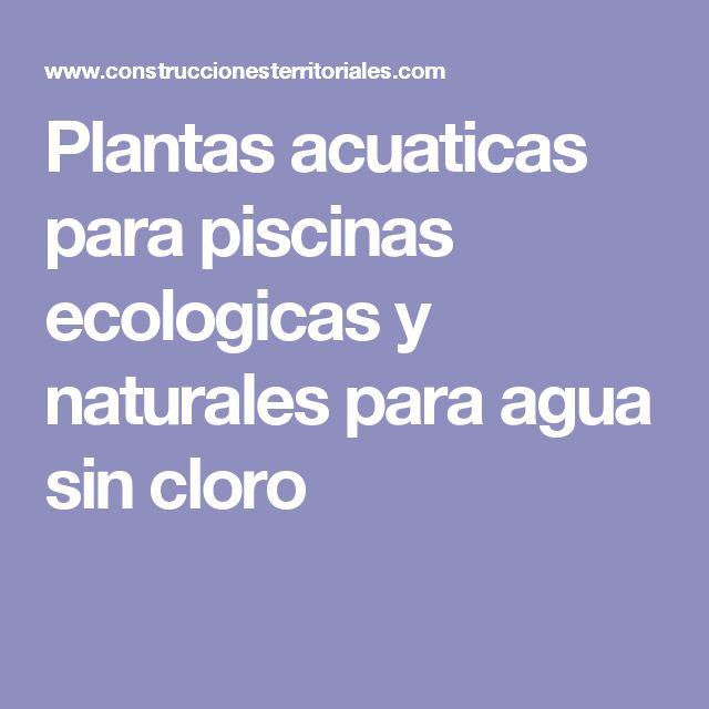 plantas acuaticas para piscinas ecologicas y naturales para agua sin cloro