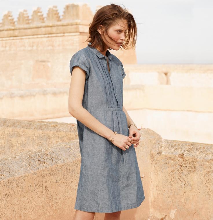 madewell denim dress. #denimmadewell