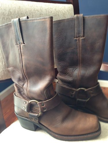 Frye 12R Belted Harness Boots Dark Brown Size 7 Womens   eBay