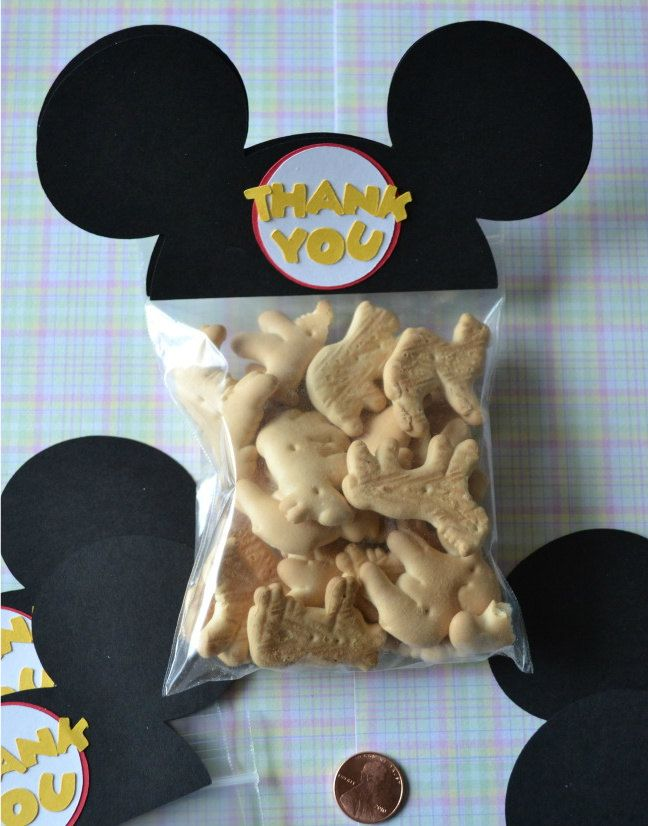 Bolsas de regalos por asistencia a fiesta Orejas de Mickey Mouse   -  MIckey Mouse Ears Treat / Party Favor Goodie Bags