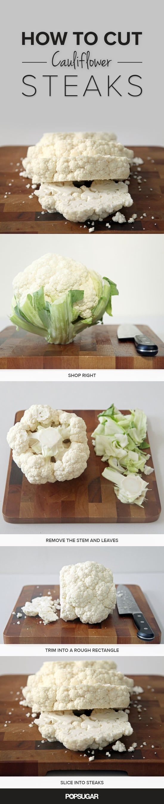 How to Prep Cauliflower Steaks, in Pictures