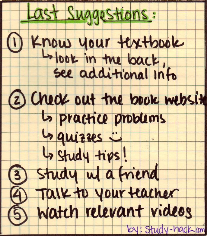 how to make a study guide for students