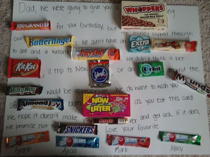 Candy Card I made for my dad's birthday!
