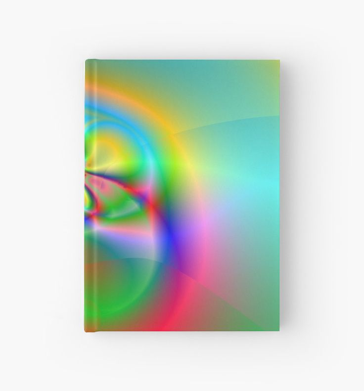 Illusion (FL24-003) Hardcover Journals by Terrella.  A bright and colourful fractal image which some see as flowers, others a fly or beetle and some see a ring. What do you see? • Also buy this artwork on stationery, apparel, phone cases, and more.