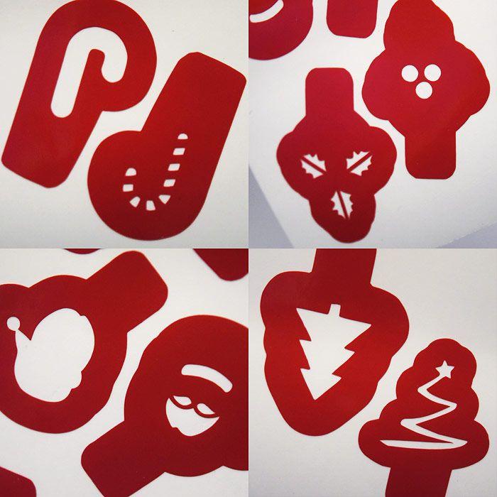 Christmas Layering Images Nail Stencils