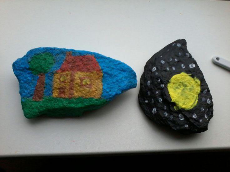 Eerste keer stone art.
