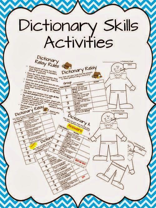 Classroom Freebies: Dictionary Skills