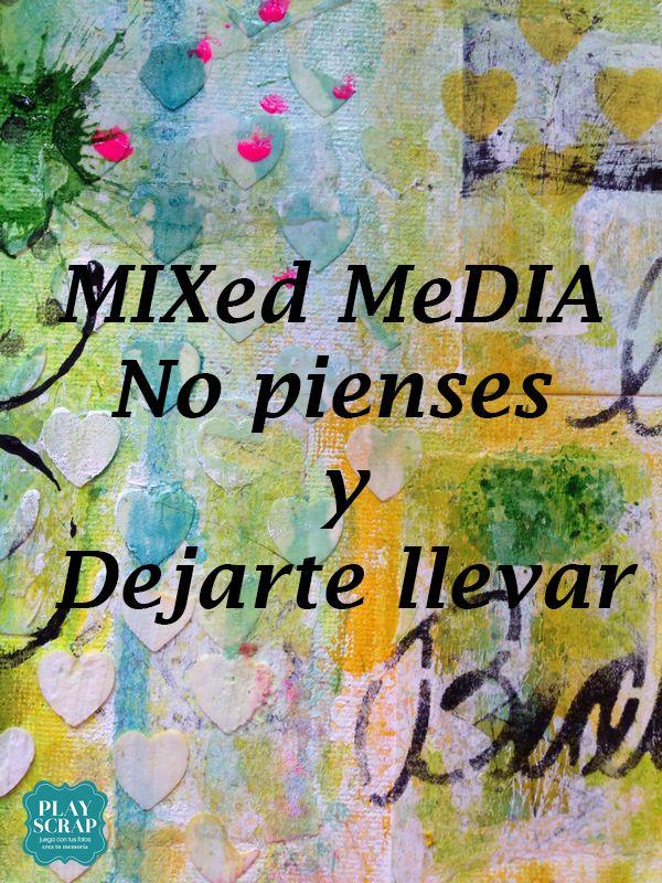 Inspiración con Wilma: Video-Tutorial Lienzo mixed media