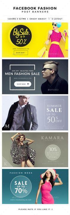 Facebook Fashion Post Banner - Miscellaneous Social Media https://graphicriver.net/?ref=artsiebree