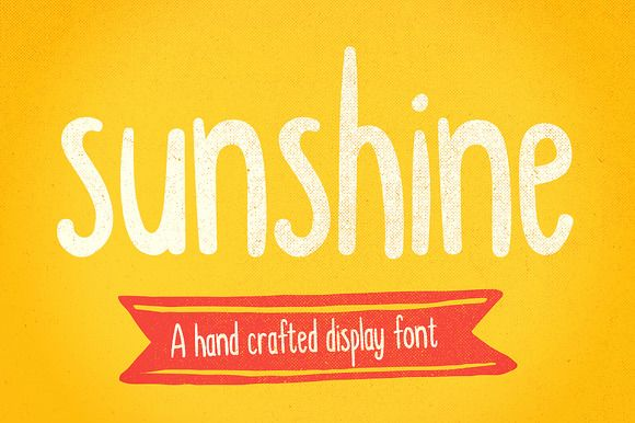 Sunshine hand drawn display font by It's me simon on @creativemarket