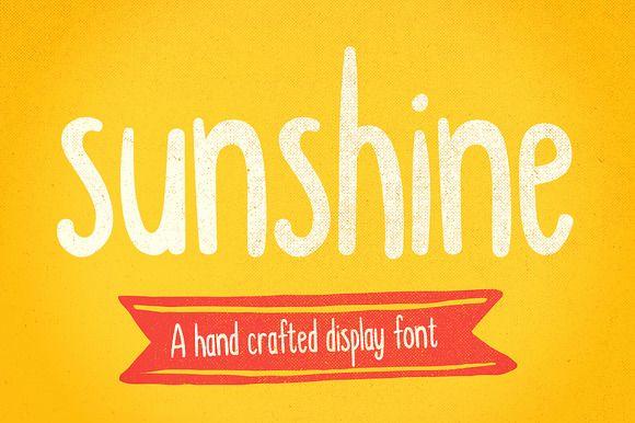 Sunshine hand drawn display font by It's me simon on @creativemarket