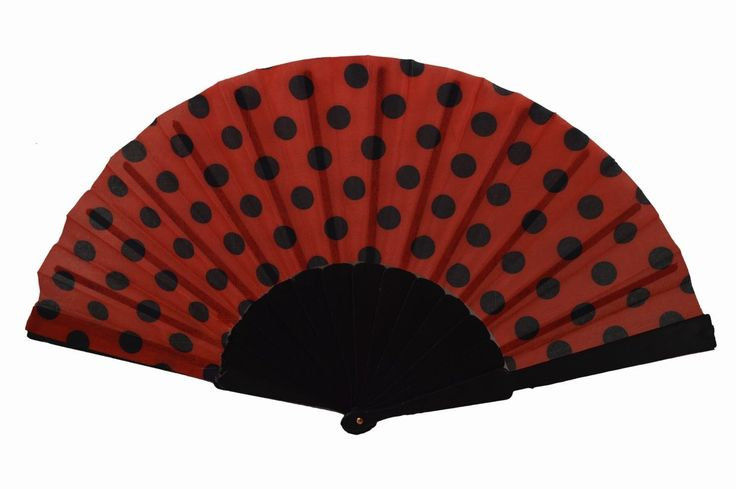 Amazon.com: Plastic Dots Style Chinese Hand Folding Summer Fan Black + Red: Sports & Outdoors