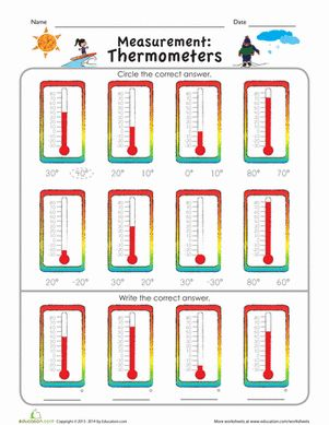 Turn up the heat with this measurement worksheet that helps kids learn how to read a thermometer.