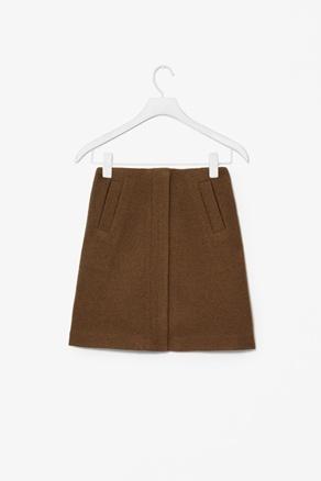 Cos - A-line wool skirt