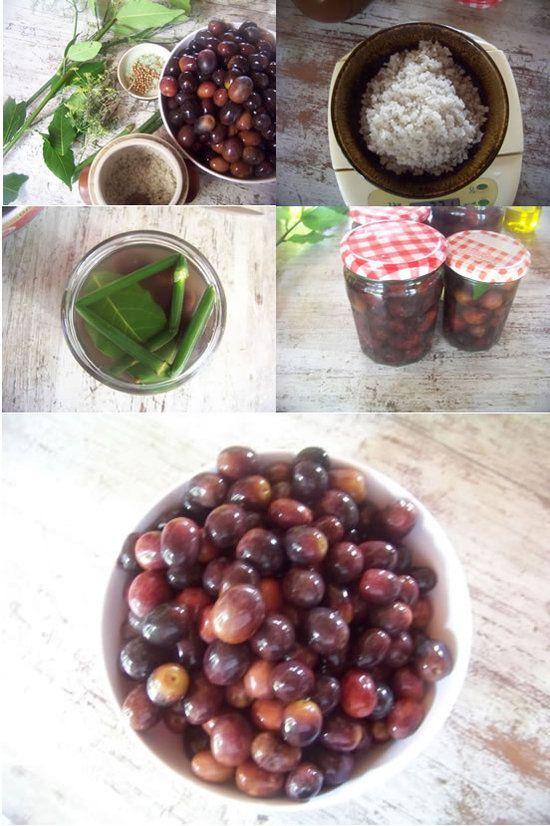 olives noires - préparation maison