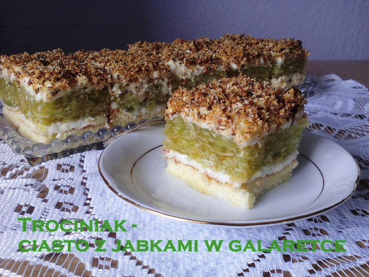Ciasto Trociniak - z jabłkami w galaretce PRZEPIS