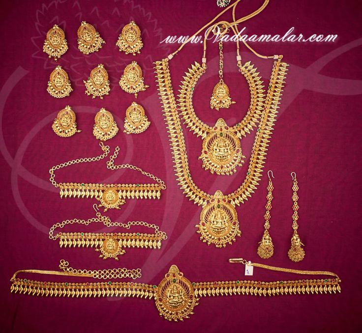 Antique design bridal jewellery set buy online, Indian design.