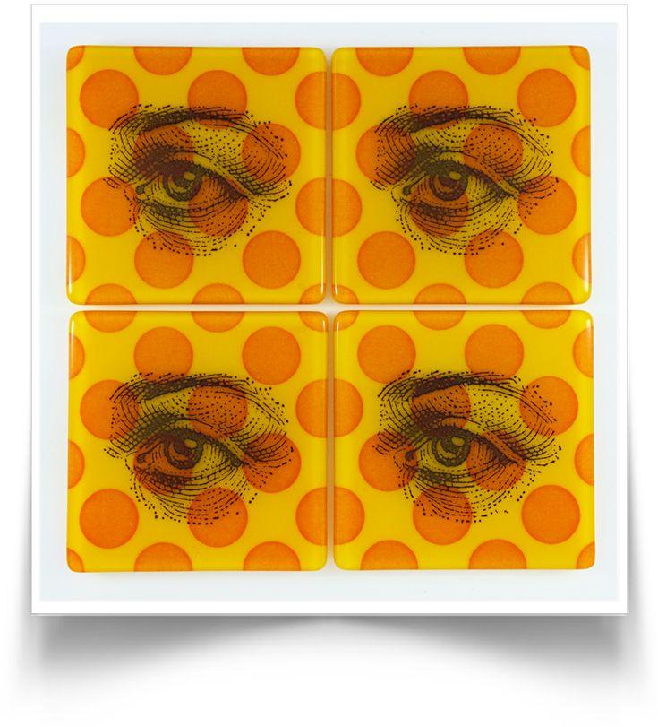 Eye Polka Dot Coasters