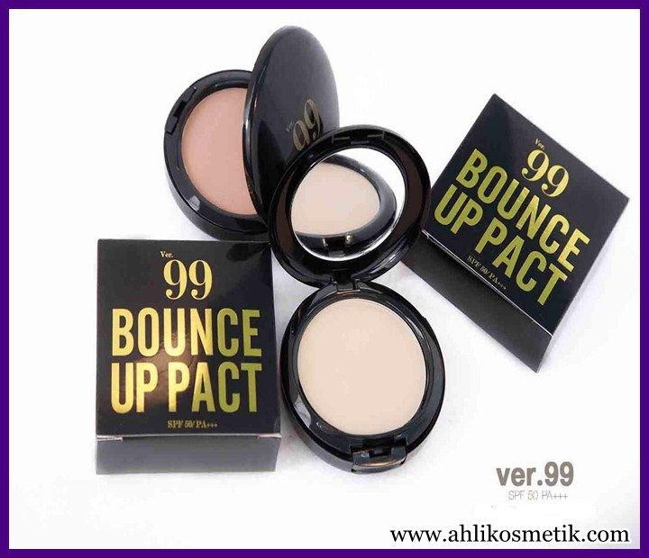 Bedak Ver 99 Bounce Up Pact dengan 3 Pilihan Warna Kulit