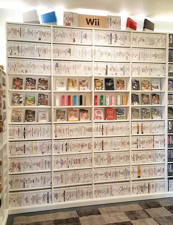 Ever wonder what a complete collection of Wii games looks like?