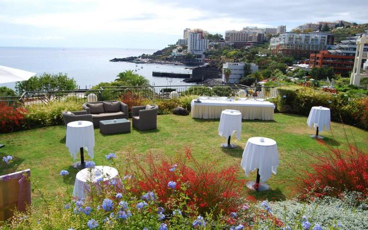 Amazing views for your cocktails after the wedding ceremony. http://www.yourmadeirawedding.com/directory/vila-porto-mare-resort