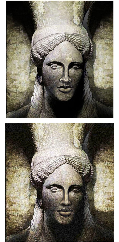 AMFIPOLI TOMB-GREECE-- KARIATIS- Digital Restoration of the damaged Marble Head by Lakis Papadakis.
