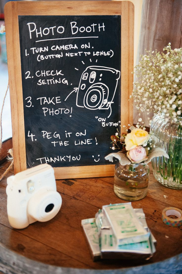 #photo-booth, #signs Photography: Louisa Bailey - Louisabailey.com Read More: http://www.stylemepretty.com/australia-weddings/2014/06/10/laid-back-rustic-barn-wedding/