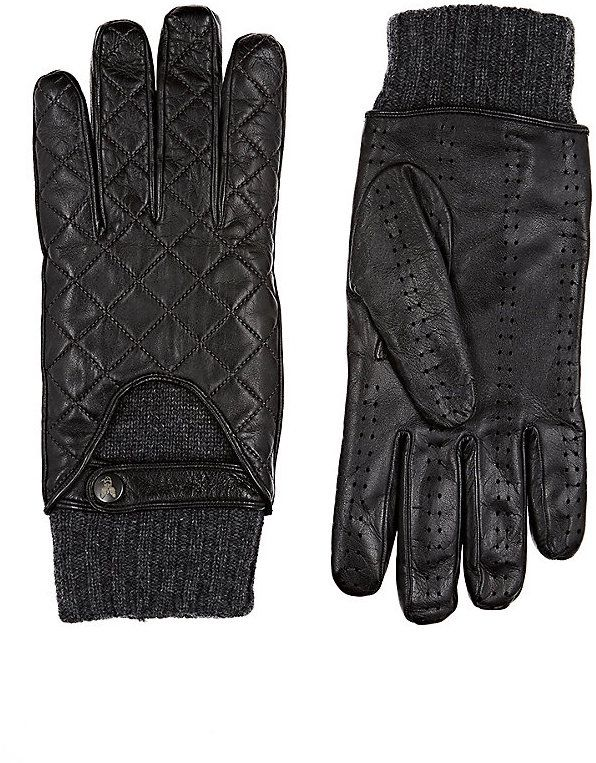Christophe Fenwick Men's Goodwood Driving Gloves-BLACK