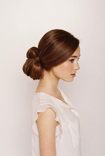 Knotted Chignon Wedding Hair Tutorial